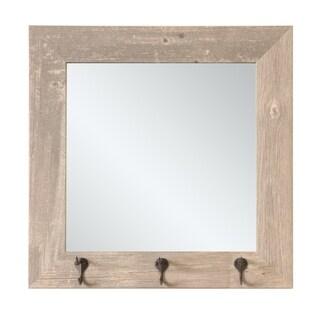 Farmhouse Square Hook Board - Grey/Brown - 21.5 X 21.5