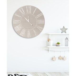 Vintage Gray Farmhouse Wall Clock