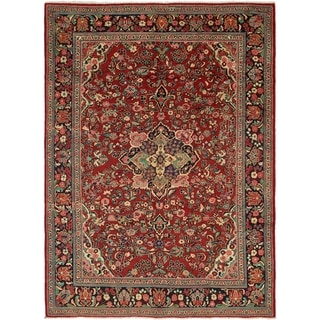 Hand Knotted Farahan Semi Antique Wool Area Rug - 9' 2 x 12' 9
