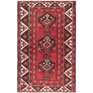 Hand Knotted Ferdos Semi Antique Wool Area Rug - 4' x 6' 6