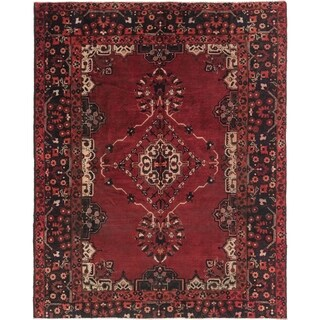 Hand Knotted Ferdos Semi Antique Wool Square Rug - 7' x 8' 5