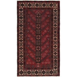 Hand Knotted Ferdos Semi Antique Wool Area Rug - 3' 10 x 6' 10