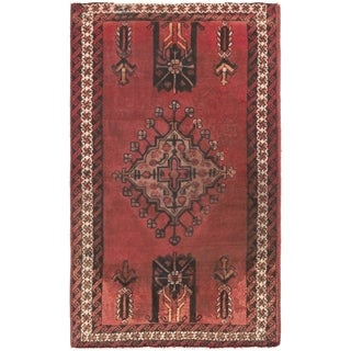 Hand Knotted Ferdos Antique Wool Area Rug - 4' x 6' 9
