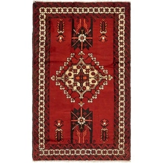 Hand Knotted Ferdos Semi Antique Wool Area Rug - 4' x 6' 7