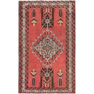 Hand Knotted Ferdos Semi Antique Wool Area Rug - 4' 4 x 6' 9