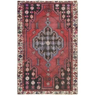 Hand Knotted Ferdos Antique Wool Area Rug - 4' x 6' 4