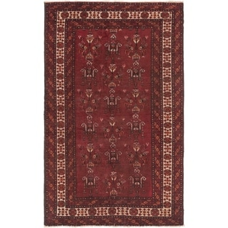Hand Knotted Ferdos Semi Antique Wool Area Rug - 4' x 6' 4