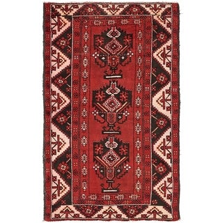 Hand Knotted Ferdos Semi Antique Wool Area Rug - 4' 2 x 6' 9