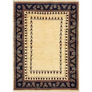 Hand Knotted Ghashghaei Wool Area Rug - 3' 7 x 4' 10
