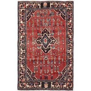 Hand Knotted Gholtogh Semi Antique Wool Area Rug - 4' 3 x 6' 8