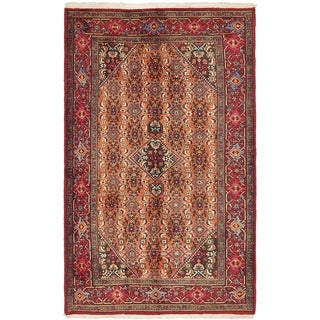 Hand Knotted Gholtogh Semi Antique Wool Area Rug - 4' 3 x 7'