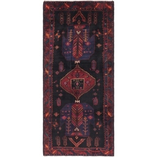Hand Knotted Gholtogh Semi Antique Wool Runner Rug - 4' 2 x 10' 2
