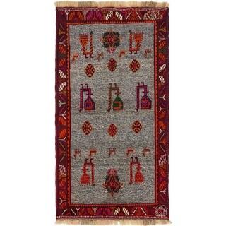 Hand Knotted Ghashghaei Wool Area Rug - 3' 3 x 6'