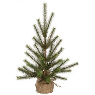 "Pine Tree with Canvas Base - 8""l x 8""w x 18""h"