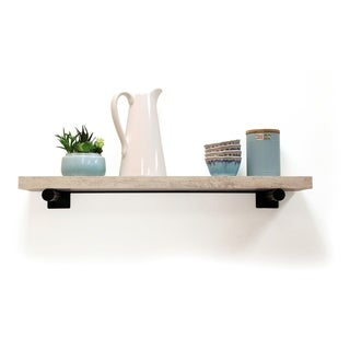 InPlace 36-inch Distressed White Shelf w/Bracket