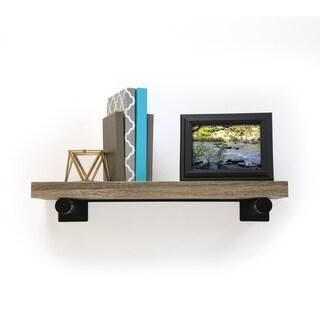 InPlace 24-inch Brown Driftwood Shelf w/Bracket