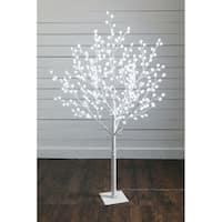 """Snowball Lighted Decorative Tree - 55""""l x 55""""w x 6' 6""""h"""