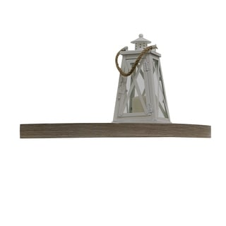 InPlace 14-inch Driftwood Corner Shelf