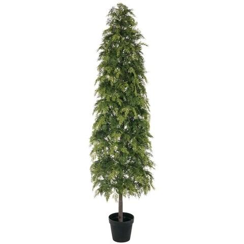"""Potted Soft Pine Tree - 25""""l x 25""""w x 7'h"""