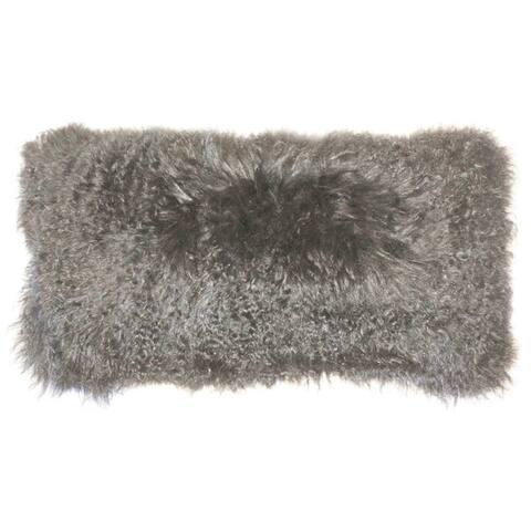 Pillow Decor - Mongolian Sheepskin 12x24 Rectangular Pillow