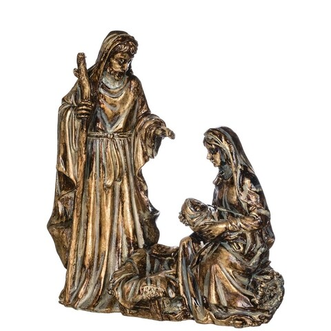 "Gold Antiqued Holy Family Tabletop Decor - 7""l x 3""w x 8""h"