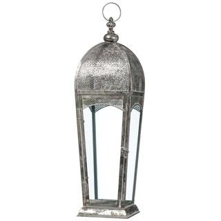 """Elegant Metal Patterned Lantern - 8""""l x 8""""w x 30""""h"""
