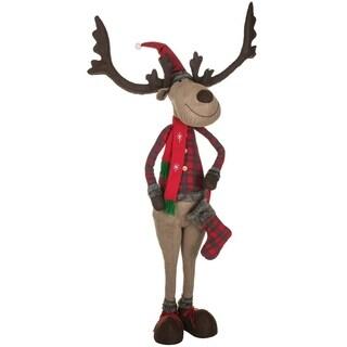 "Reindeer Ranch Standing Reindeer Figurine - 48""l x 15""w x 6' 3""h"
