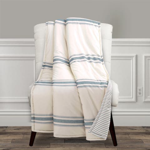 Lush Decor Farmhouse Stripe Throw