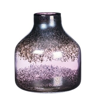 "Plum Ombre Speckled Vase - 8.25""l x 8.25""w x 10""h"