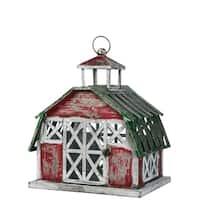 "Rustic Metal Barn Lantern - 17.25""l x 13""w x 20""h"