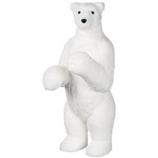 "Arctic Animals Standing Polar Bear Figurine - 9""l x 10.5""w x 23""h"
