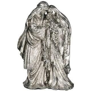 "Elegant Silver Holy Family Figurine - 9""l x 5""w x 14""h"