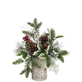 "Pine Mix with Berries Arrangement - 15""l x 12""w x 13""h"