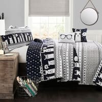Lush Decor Llama Stripe Quilt Set