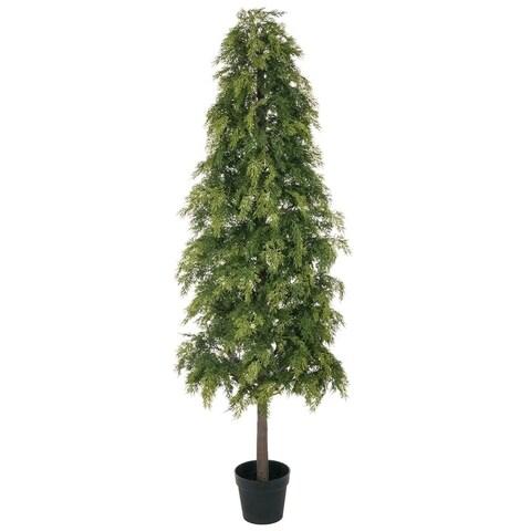 """Potted Soft Pine Tree - 25""""l x 25""""w x 6'h"""