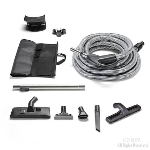30 foot universal GV central vacuum replacement hose and tools with two way switch
