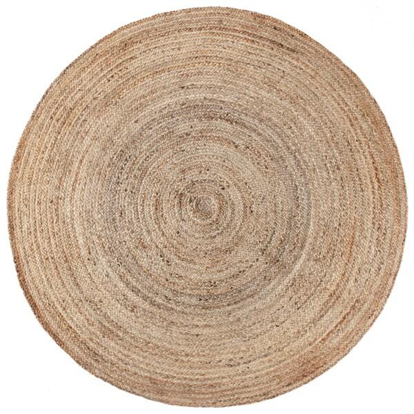 Pippi Thick Braided Natural Jute (6'x6') Round - 6' x 6'