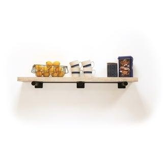 InPlace 42-inch Distressed White Shelf w/Bracket