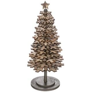 "Wooden Snowflake Tree - 4""l x 4""w x 10""h"