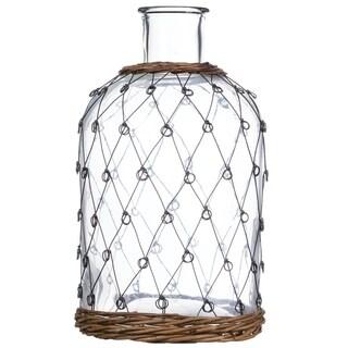 """Wire Pattern Bottle - 7.5""""l x 7.5""""w x 13""""h"""