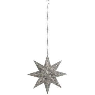"Elegant Metal Patterned Hanging Star - 17.5""l x 4""w x 18""h"