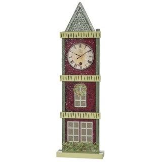 "Town Square Village Clock Tower Tabletop Decor - 4.5""l x 1.5""w x 14.75""h"