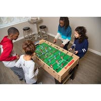 Metropolis 48-in Foosball Table with Spring-Loaded Telescopic Safety Rods - Maple Finish
