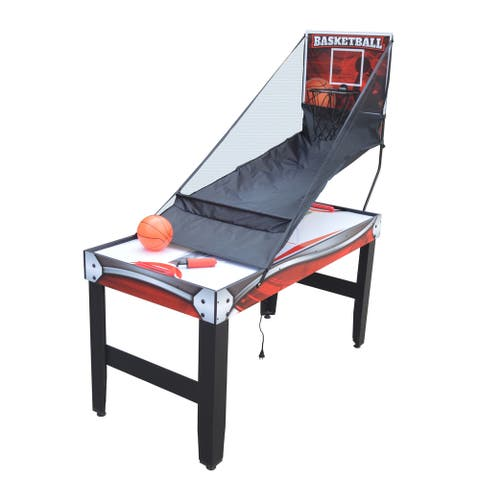 Scout 54-in 4-in-1 Multi-Game Table with Basketball, Air Hockey, Table Tennis, and Dry Erase Board