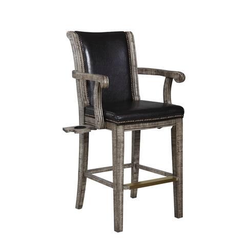 Montecito Billiards Spectator Chair - Driftwood Finish