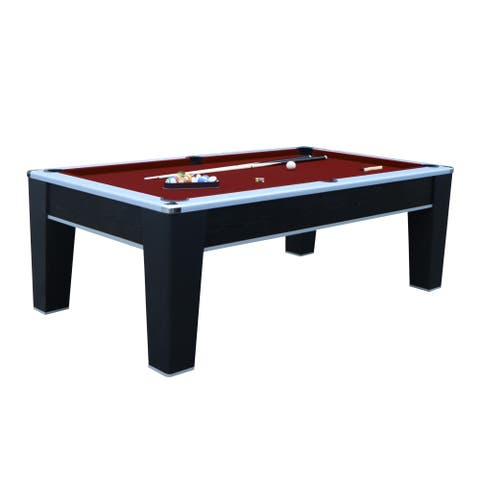 Mirage 7.5-ft Pool Table - Black Finish