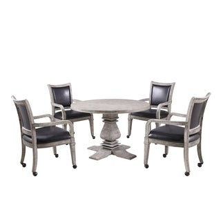 Montecito Dining and Poker Table Set with four chairs - Driftwood Finish