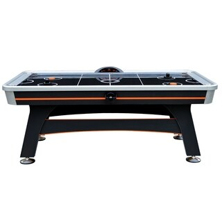 Trailblazer 7-ft Arcade Level Air Hockey Table with Electronic Scoring Unit and Sound Effects - Black