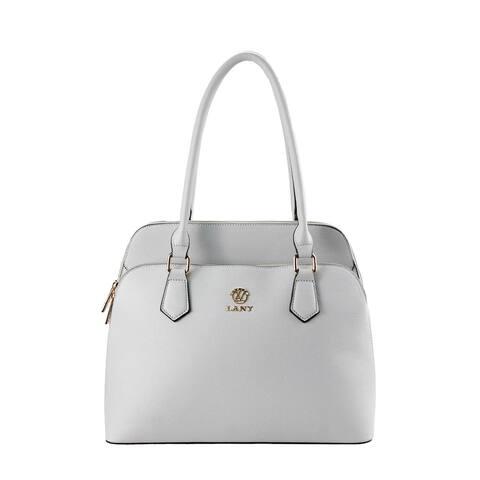 LANY Dual Compartment Dome Shoulder Bag w/ Makeup Pouch & Wallet Set