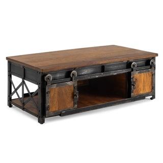 Carnegie Industrial Coffee Table in Brown by RST Brands